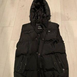 Pd&c puffer sleeveless black